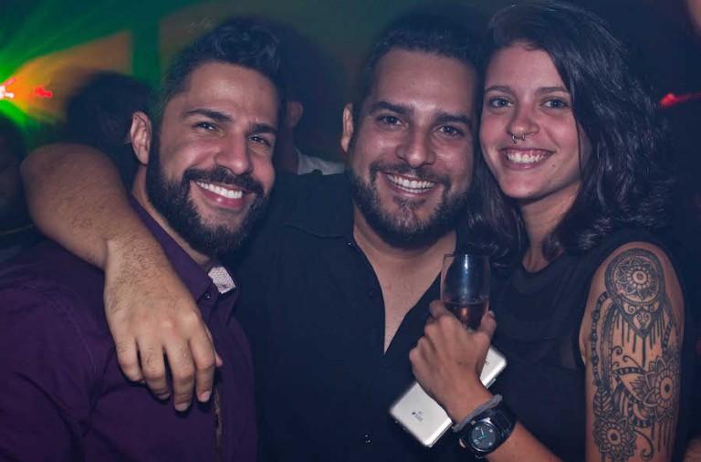 Felipe Falcao, Vini Castro e Nina Soledade