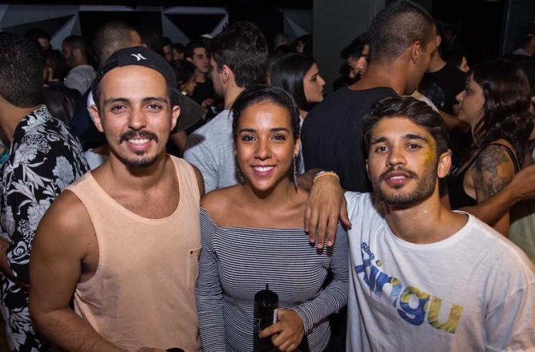 Tiago Rocha, Manuela Ferreira e Davi Sampaio