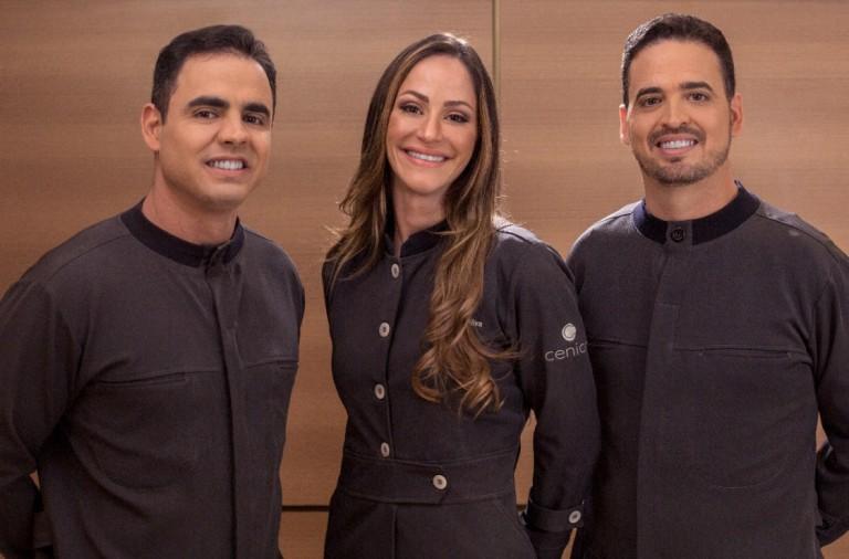 Dr Eduardo, Dra Agda e Marcos Oliva